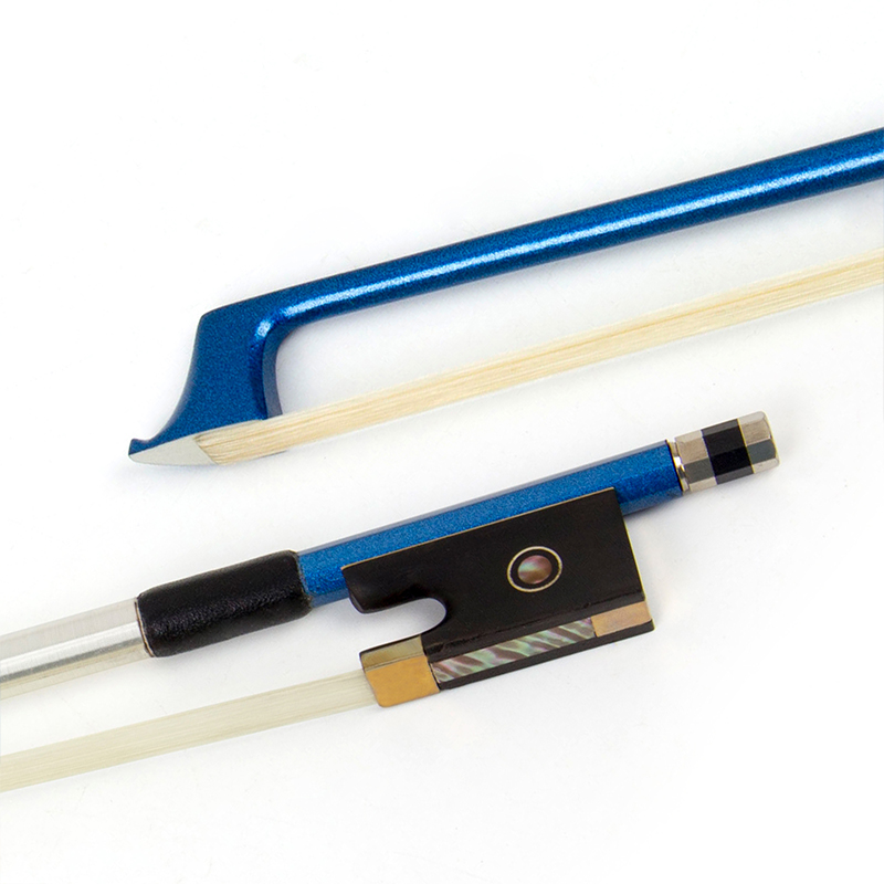 1pc High Quality Blue Carbon Fiber Violin Bow Stunning Bow 4/4 Violin Bow